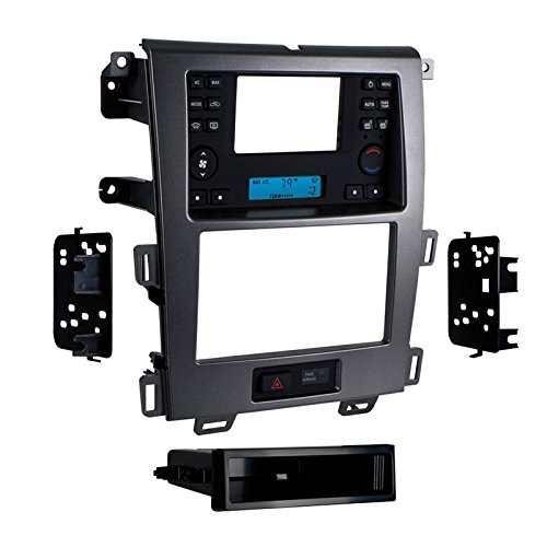Metra 99-5829CH 2011-Up Ford Edge with Factory 4.3-Inch Screen Single DIN and Double DIN Mount Kit (Charcoal grey)