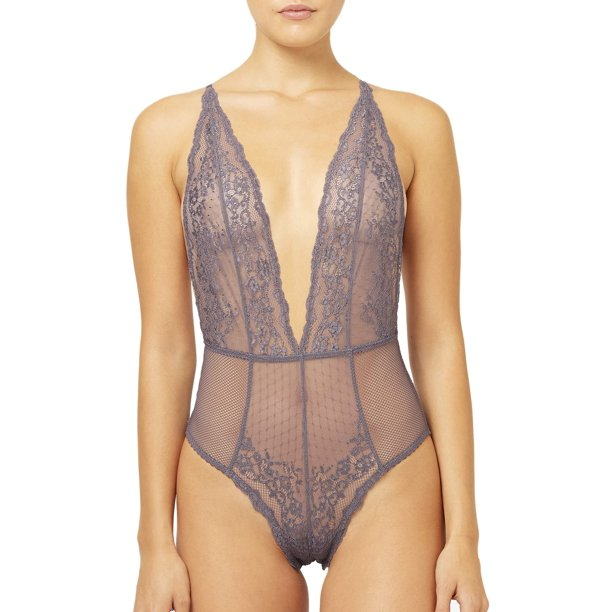 French Connection Plunge Lace Bodysuit