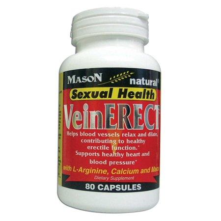 MASON NATURAL - Special - VEIN ERECT CAPSULES 80 per bottle 80 per bottle (SINGLE BOTTLE)Promotes blood vessel dilation and enhances blood flow for healthy erectile.., By MedChoice (Promotes Blood Vessel)