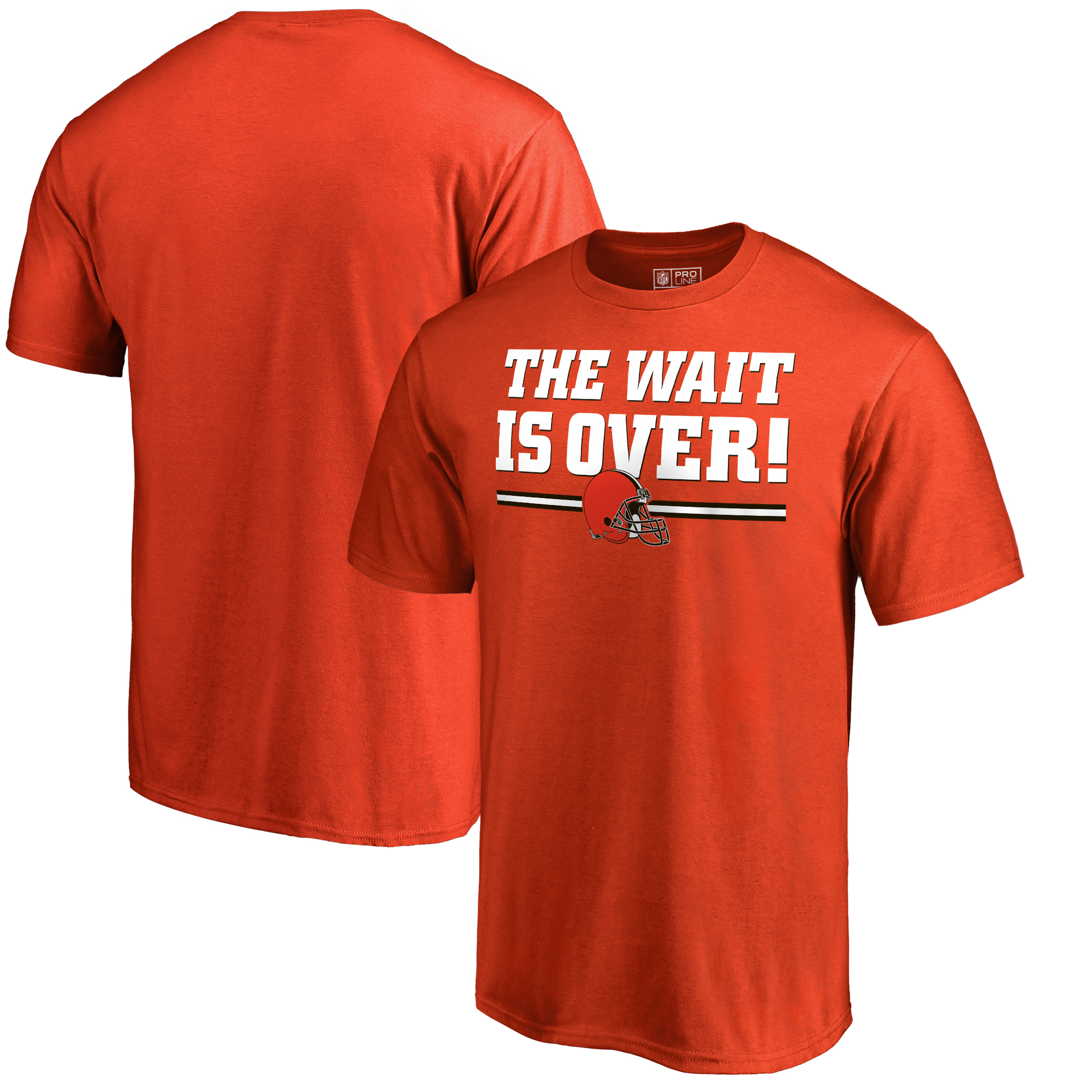 Cleveland Browns NFL Pro Line by Fanatics Branded The Wait Is Over T-Shirt - Orange