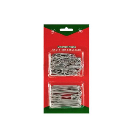 200ct Silver Metal Christmas Ornament Hooks 1-3/8