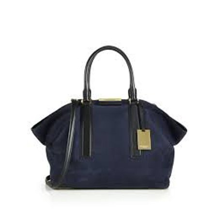 e9ea3d3512ed Michael Kors - Michael Kors Lexi Large East West Satchel French Grained  Nubuck Satchel Navy Black - Walmart.com