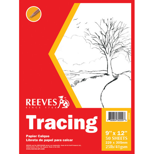 Reeves Tracing Paper Pad, 50 Sheets, 25 lb