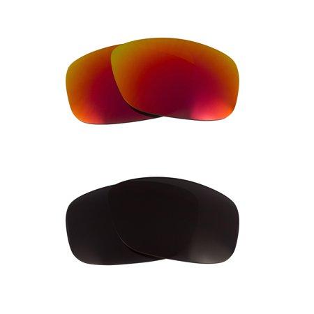 c9df7c74b2d Oil Drum Replacement Lenses Polarized Black   Ruby Red by SEEK fits OAKLEY  - Walmart.com