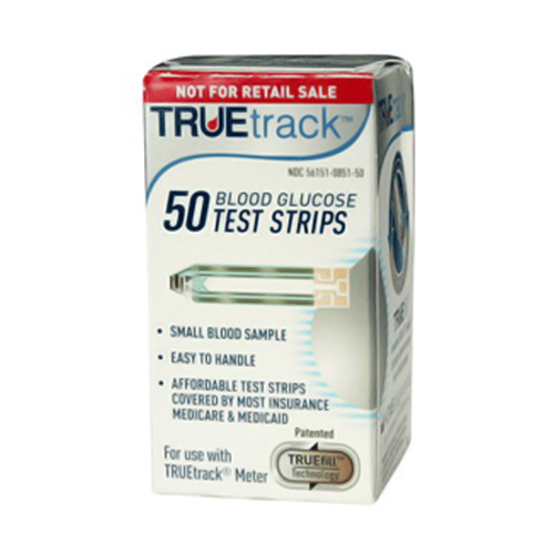 Kpp True Track Blood Glucose Test Strips - 50 Ea