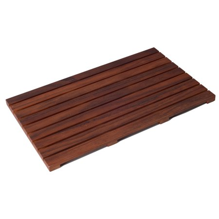 Organizedlife  Large Teak Wood Bath Shower  Mat Mold Resistant Bath Mat for Bathroom 31.5 x 19 x 1.18 inches ()