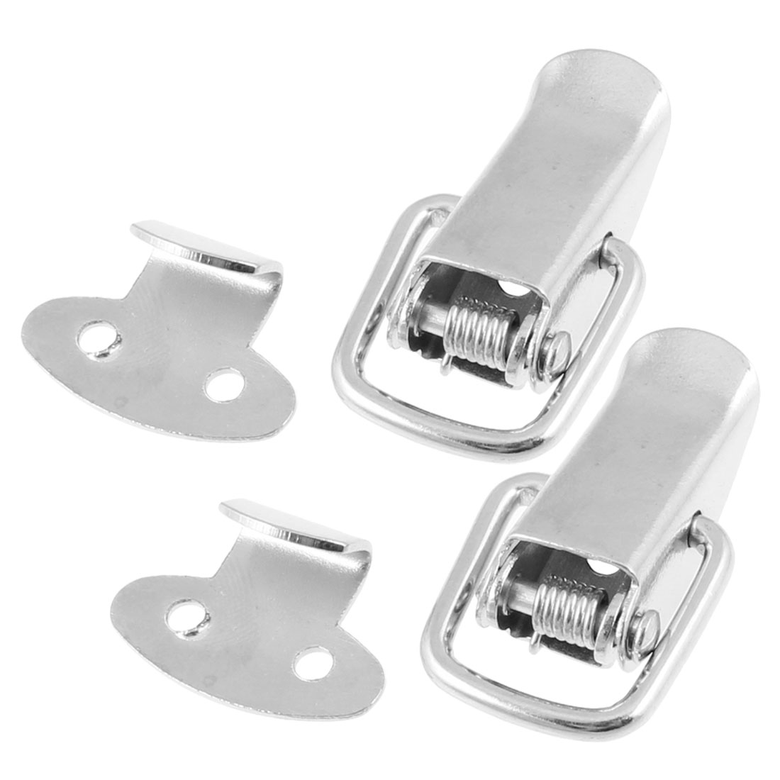2 Pcs Box Chest Case Stainless Steel Tone Draw Toggle Latch 2.2""