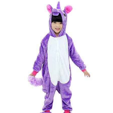 Halloween Costume Kids Unisex Unicorn/Pegasus Animal Cosplay Sleepwear Pajamas - It's Halloween Night Kids Hut