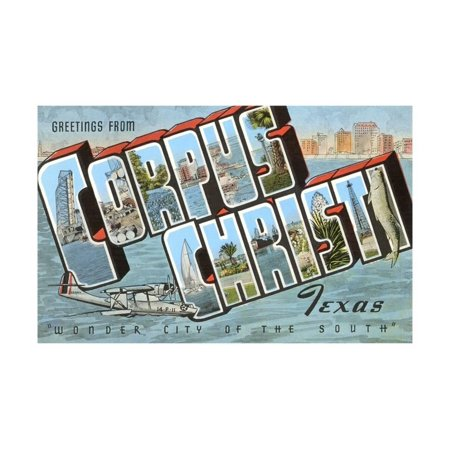 Greetings from Corpus Christi, Texas, Wonder City of the South Print Wall Art](Party City In Corpus Christi)