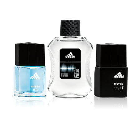 Adidas Moves for Him, Dynamic Pulse and Moves 0:01 Eau de Toilette Spray Holiday Gift Set, 3 pc