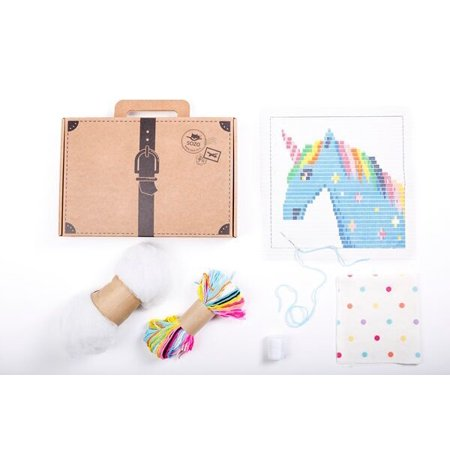 SOZO Embroidery Kit for Beginners | DIY Unicorn Tapestry Pillow Cover