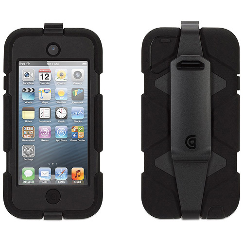 Griffin Black/ Black Heavy Duty Survivor Case with belt clip for iPod touch (5th/ 6th gen.), Extreme-duty case