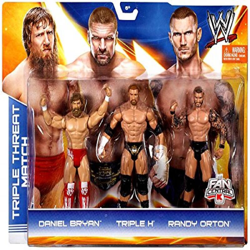 Mattel, WWE Basic Series, Exclusive Triple Threat Match Action Figure Set (Daniel Bryan, Triple H, and Randy... by