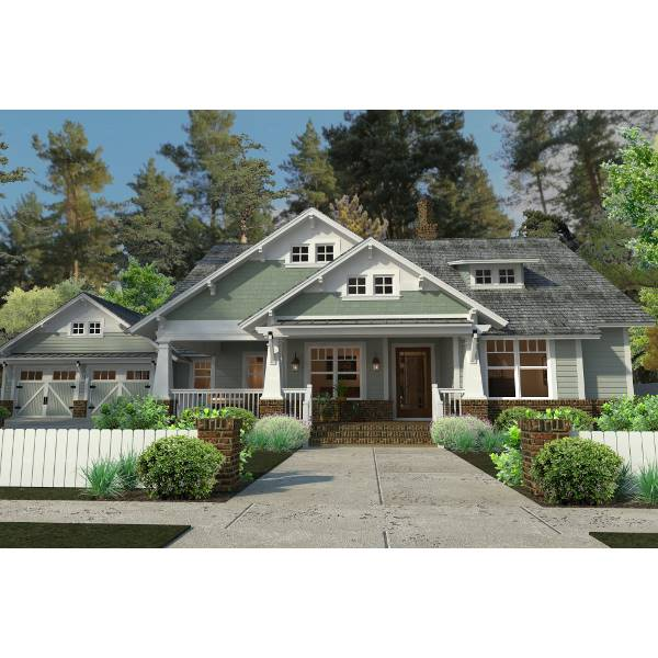 TheHouseDesigners-5517 Bungalow Cottage House Plan with Basement Foundation (5 Printed Sets)
