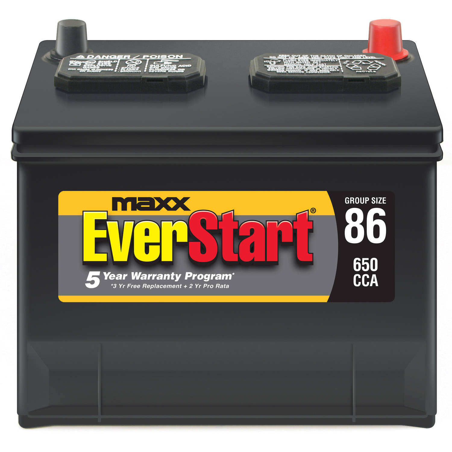 EverStart Maxx Lead Acid Automotive Battery, Group 86