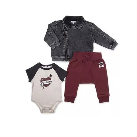 Vest and Camo Pant 3 Piece Outfit Set (Baby Boys)