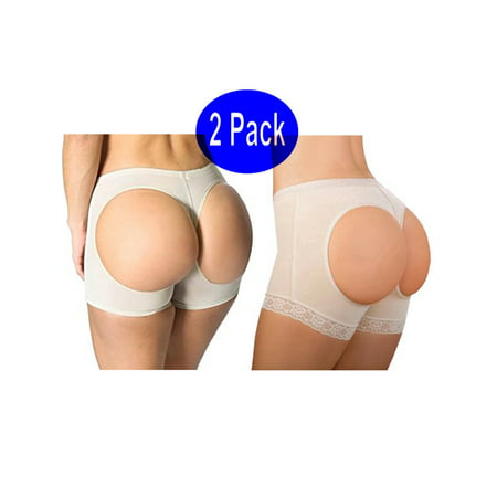 00c8460fa13 Lelinta - LELINTA Women s Seamless Butt Lifter Panties Body Shaper  Boyshorts Tummy control Shapewear Underwear 2-Pack - Walmart.com