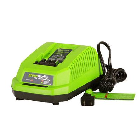 Greenworks 29482 G Max 40 Volt Lithium Ion Battery Charger