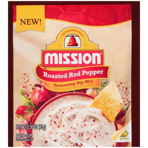 Mission Roasted Red Pepper Seasoning Dip Mix, .56 oz