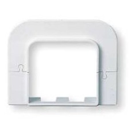 DiversiTech 230-FR6 6in SpeediChannel Flat Wall Escutcheon for Air Conditioning Line Set Cover System
