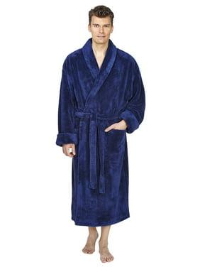 283f2688eb Product Image Men s Shawl Collar Fleece Plush Robe Turkish Bathrobe