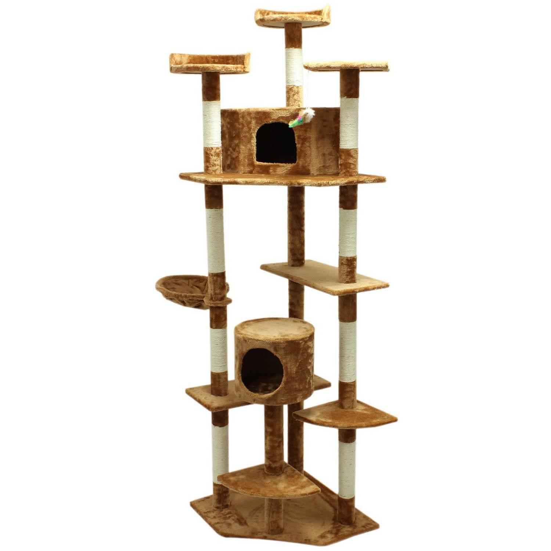 Aleko 80 Cat Tree Condo Scratching Post Pet Furniture