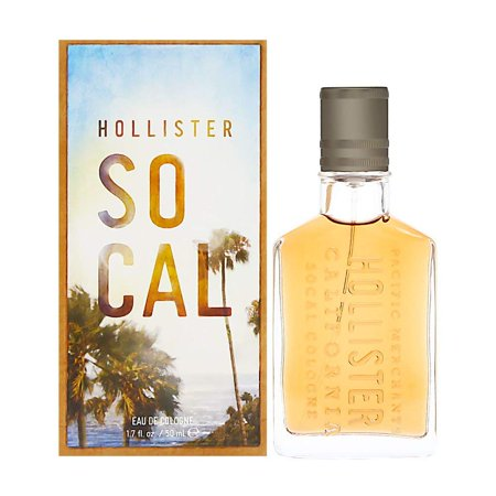 Hollister Socal Cologne Spray for Men, 1.7 Fluid