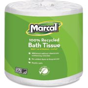 Marcal, MRC6079, 100% Recycled, Soft & Absorbent Bathroom Tissue, 48 / Carton, White