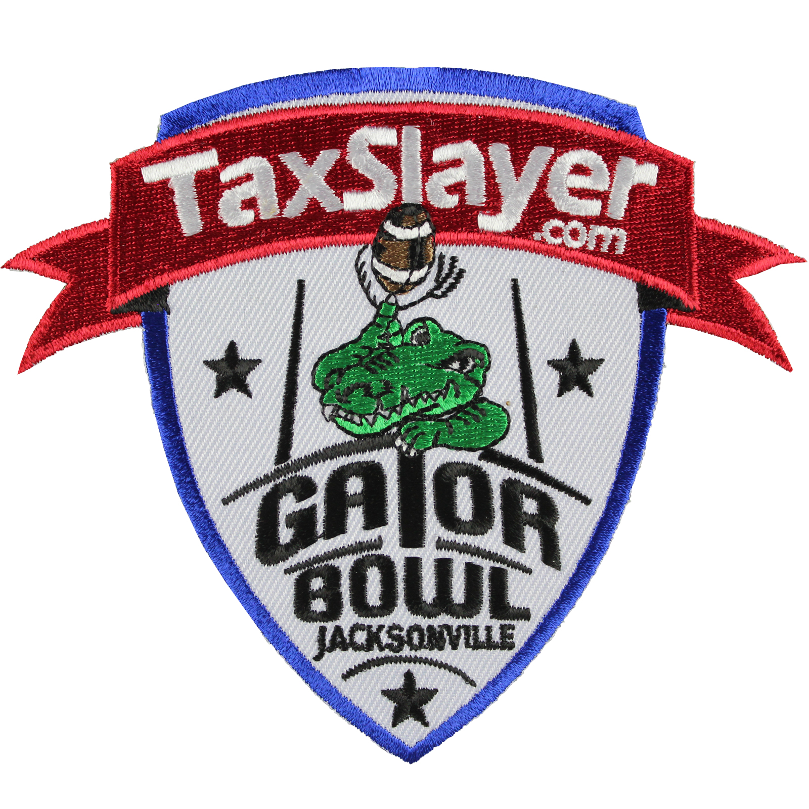Tax Slayer.com Gator Bowl Game Jersey Patch In Jacksonville (2014 Nebraska vs. Georgia)