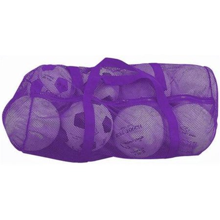 Champion Sports  BC088P 36 in. x 15 in. Zippered Mesh Bag - Purple