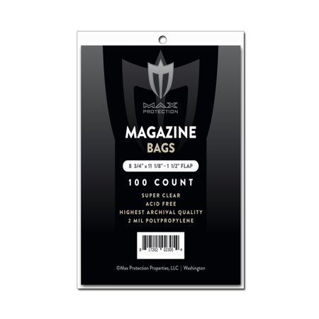 Max Pro Ultra Clear Magazine Bags - 8-3/4 x 11-1/8 - 100ct