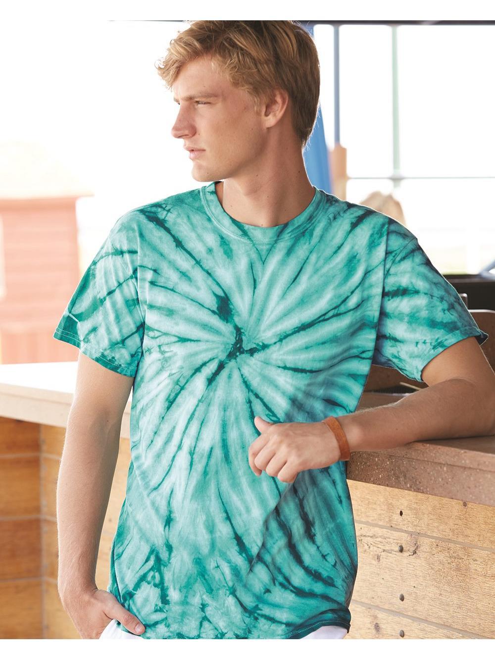 Dyenomite T-Shirts Cyclone Pinwheel Short Sleeve T-Shirt