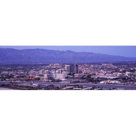 Party City Tucson Arizona (Aerial view of a city Tucson Pima County Arizona USA 2010 Canvas Art - Panoramic Images (18 x)