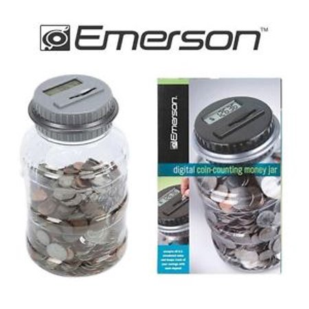 Emerson coin bank - Coin bank that counts money ...