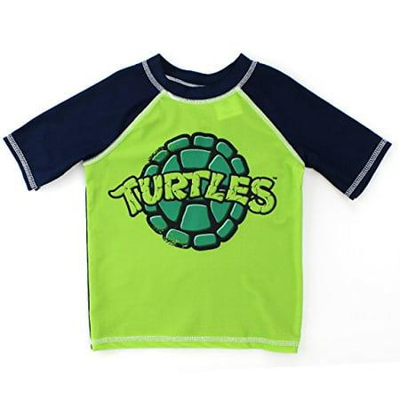 a3d7e18e86 Nickelodeon - TMNT Ninja Turtles Boys Swimwear (2T, Green Rash Guard) -  Walmart.com
