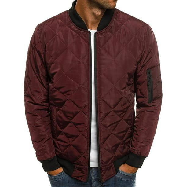 Casual Warm Winter Er Zipper, Lightweight Winter Coat Mens