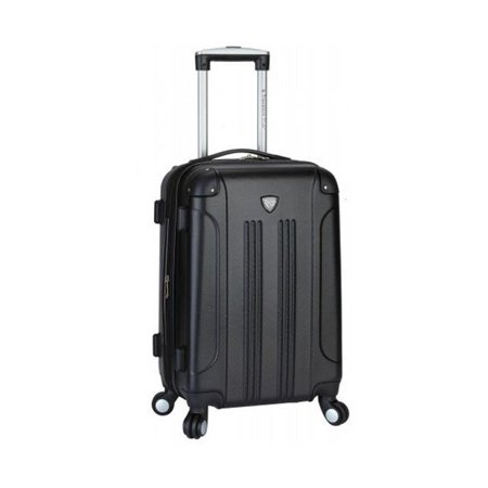 Travelers Club HS-20720-655 Chicago 20 in. Hardside ABS Expandable Carry-On, Fuchsia 20 Expandable Mobile Traveler