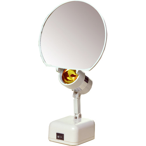 floxite 8x magnifying lighted vanity mirror