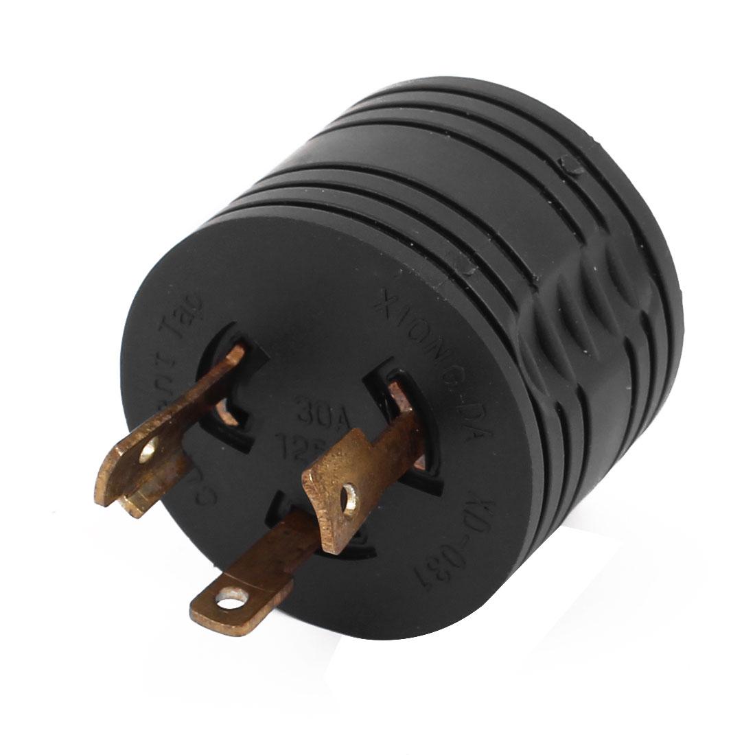 Industrial Grade 125v 30a L5 30p Us Twist Lock Power Plug To Tt 30r Wiring Ac Rv Adapter