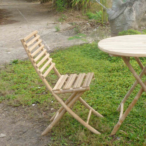 ZEW Inc Folding Patio Dining Chair (Set of 2)