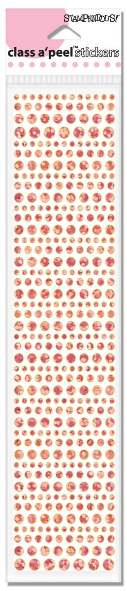 AC672-HSP Class A/'peel Dot Sparkler Stickers-Pink