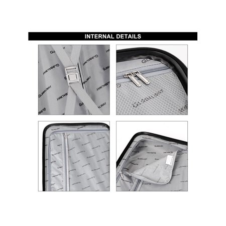 "Costway 3Pc Luggage Set 20"" 24"" 28"" Trolley Suitcase ABS+PC Spinner w/TSA Lock - image 5 de 10"