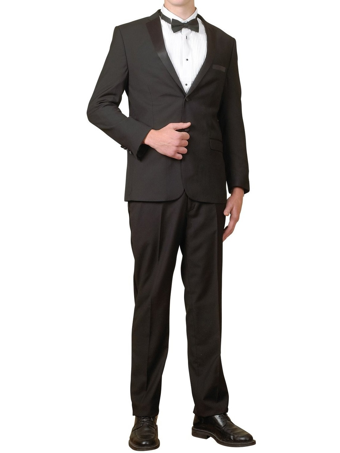Men's Tuxedo Package | 5 Piece Complete Set | Suit Jacket, Tux...