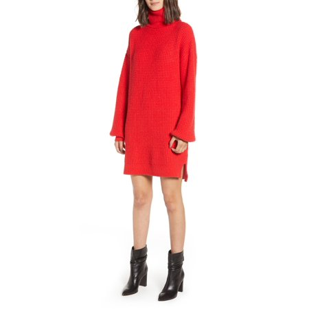 Womens Long Sleeve Turtleneck Holly Sweater Dress XS](Holly Golightly Dress)