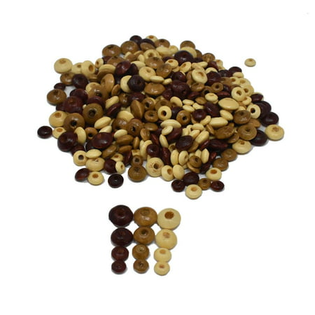 Natural Craft Wood Disc Spacer Bead Medley, 40-Gram