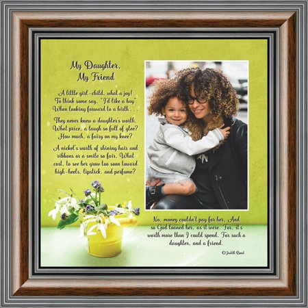 My Daughter, My Friend, Daughter Gifts, Picture Frame from Mom to Daughter, 10x10 6326 (Yellow Picture Frame From Friends)