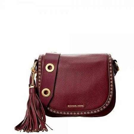 c01e03889e1a michael michael kors brooklyn medium leather saddle bag, purple -  Walmart.com