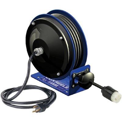 Compact Power Cord Reel 12/3 X 30' Quad Ind