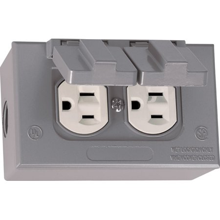 Outstanding Sigma Electric 15 Amps Metal Duplex Outlet Kit For For Use In Branch Wiring Cloud Pendufoxcilixyz