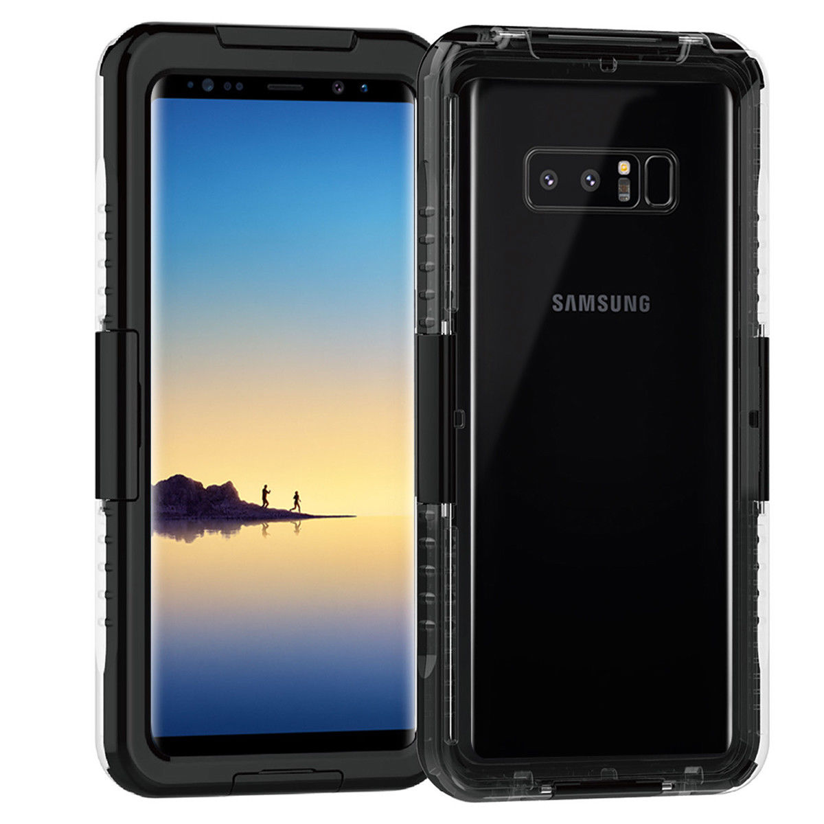 Mignova Galaxy S9 Plus Waterproof Case, Underwater Shockproof SnowProof Full Protection Rugged Shell Slim Full Sealed Cover with Screen Protector for Galaxy S9 Plus 2018 (Black)